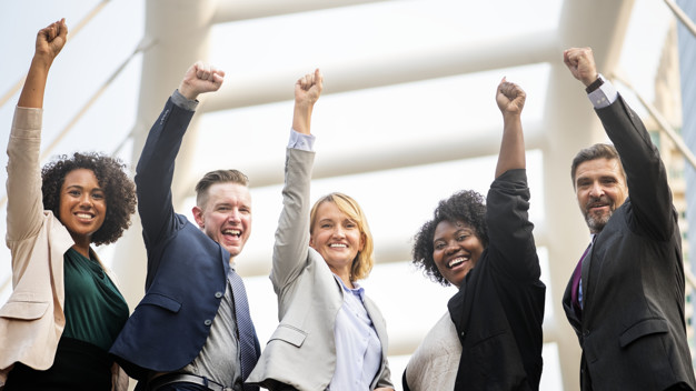 Successful and happy business team | Free Photo